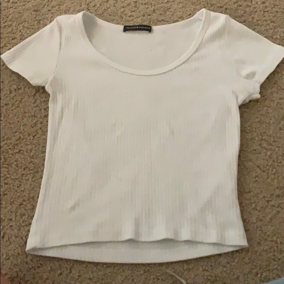 Brandy Melville Tops - white brandy melville scoop neck top